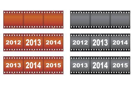 set of New Year filmstrips illustration Stock Vector - 16638347