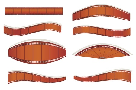 cinematograph: set of photographic filmstrips  illustration Illustration