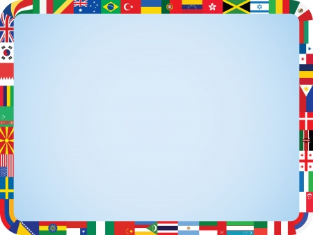world flags frame with rounded corners vector illustration Vector