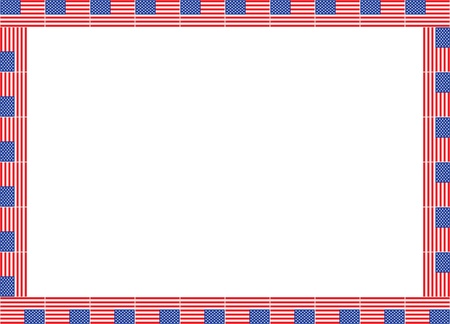 frame made of United States flags