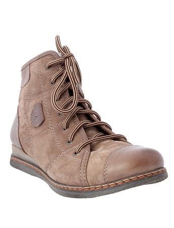 leathern: female leathern shoe isolated on white