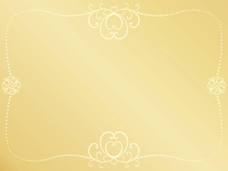 golden Valentines Day background with vintage frame Stock Vector - 17470866