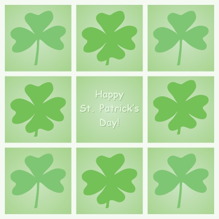 Happy St  Patrick s Day congratulation card Vector