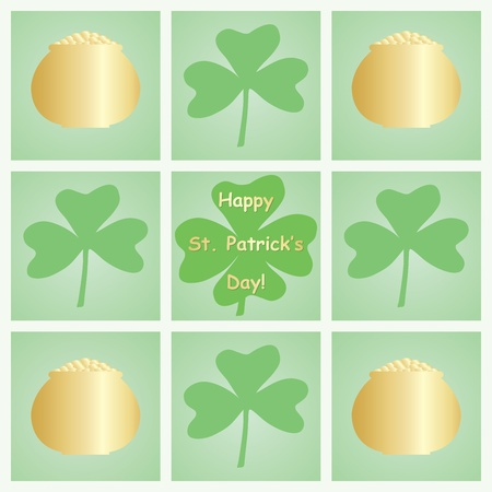 Happy St  Patricks Day congratulation background Stock Vector - 17619480