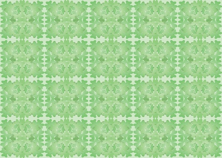green seamless pattern made of shamrock leaves Stock Vector - 17619487