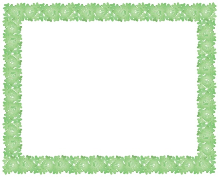 frame made of shamrock leaves for St Patricks Day holiday backround Stock Vector - 17619485