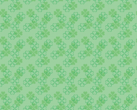 shamrock seamless: seamless pattern for St Patricks Day with four leaf shamrock leaves