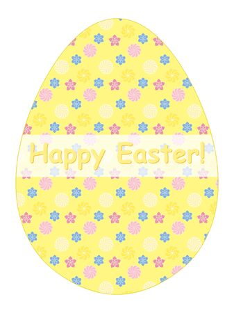 egg shaped: egg shaped Happy Easter congratulation card