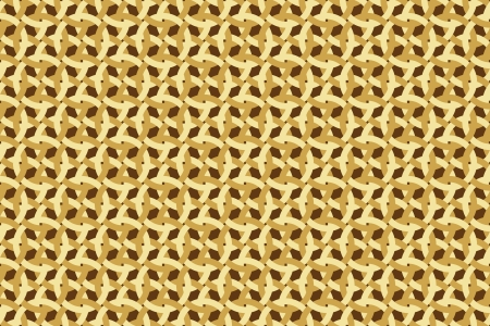 entangled: abstract seamless brown wickerwork pattern Illustration