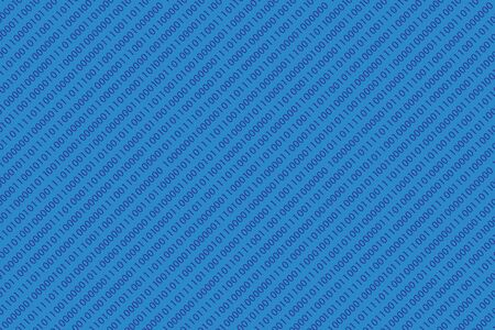 blue seamless diagonal binary code pattern Stock Vector - 18005667
