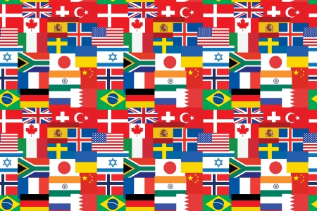 seamless pattern made of flags Vector