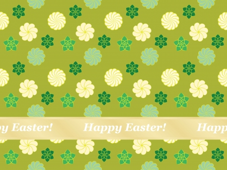 seamless Happy Easter pattern with flowers Stock Vector - 18005933