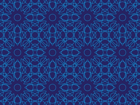 entangled: blue abstract seamless lines pattern