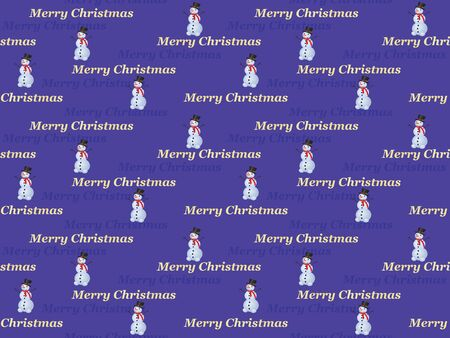 seamless Merry Christmas pattern with snowman Vector