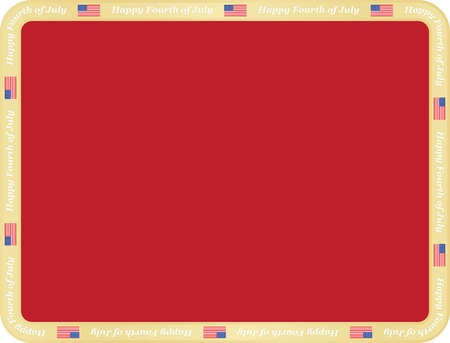 Happy Fourth of July background Vector