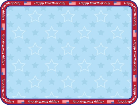 Happy Fourth of July congratulation card Vector