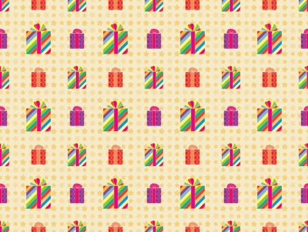 seamless holiday pattern with presents Stock Vector - 18155903