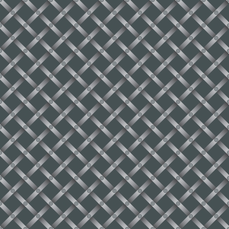 grating: seamless steel grating pattern with screws