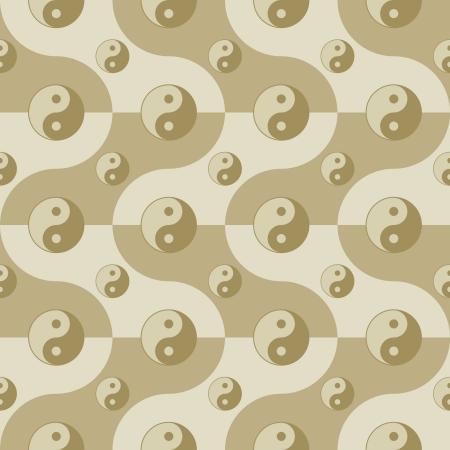 dao: seamless pattern with yin yang symbols