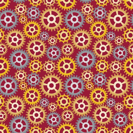 seamless pattern made of gears Vector
