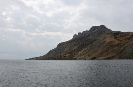 extinct volcano Kara Dag in Crimea photo