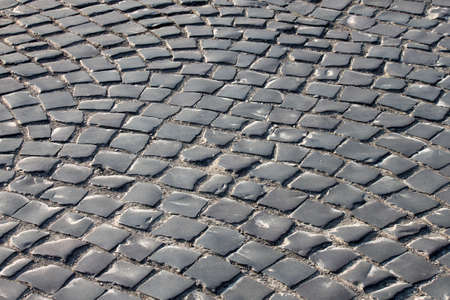 cobble: strada in pietra a Uzhgorod, Ucraina