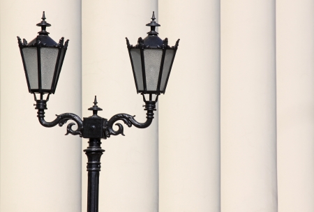 street lantern in front of row of pillars Stock Photo - 20012287