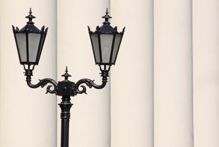 street lantern in front of row of pillars Stock Photo - 20012287