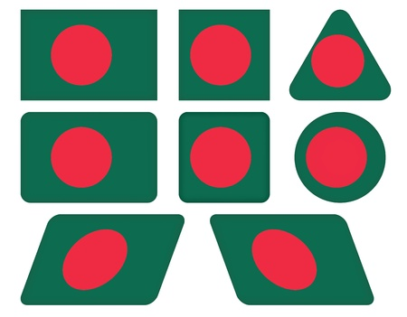 set of buttons with flag of Bangladesh Vector