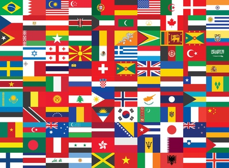 flags world: seamless background with some of world flags