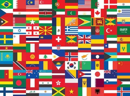 bandiera stati uniti: sfondo senza soluzione di continuit� con alcune delle bandiere del mondo Editoriali