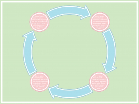 template of business scheme with four stages Vector