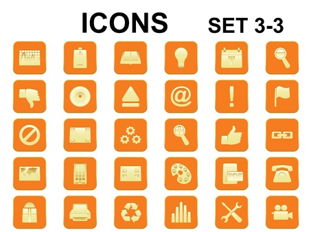 set of square icons with rounded corners Vector