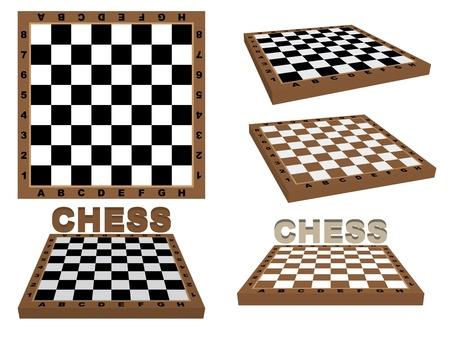 set of chessboards over white Stock Vector - 21579960