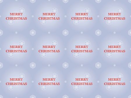 seamless Merry Christmas pattern with snowflakes Vector