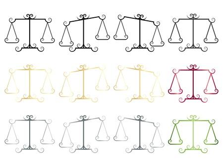validez: conjunto de iconos de elegancia escalas