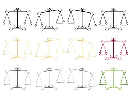set of elegance scales icons Vector