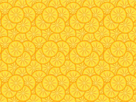 abstract seamless pattern made of orange slices Vector