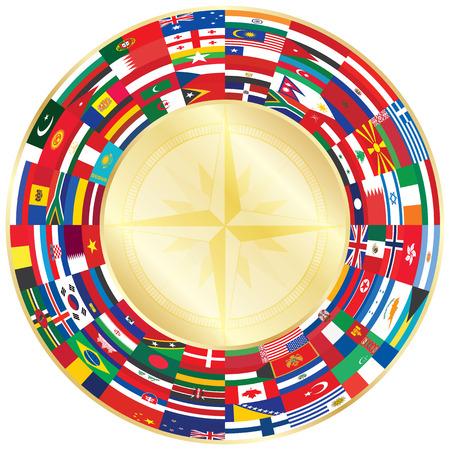 bandera de chile: banderas de todo viento de oro de la rosa