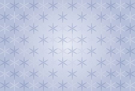 blue abstract seamless snowflakes pattern Vector