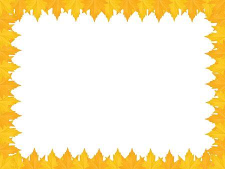 frame made of maple leaves over white Illustration
