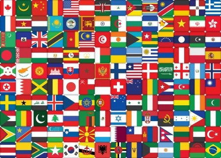background made of world flags icons photo