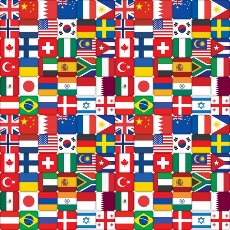 seamless pattern made of flag icons photo
