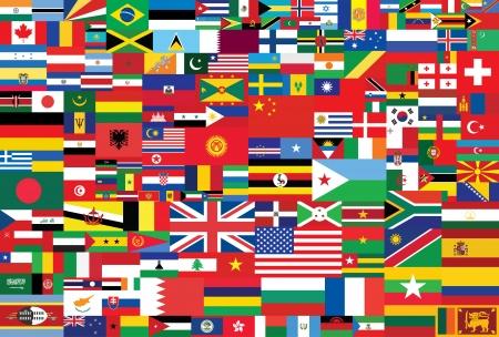 wereld vlaggen achtergrond