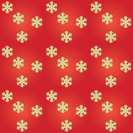 red Christmas background with golden snowflakes photo