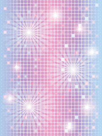 abstract blue mosaic background with lights Vector