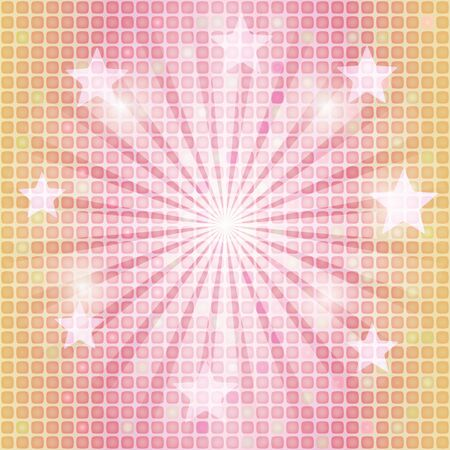 abstract mosaic background with rays and stars Vector