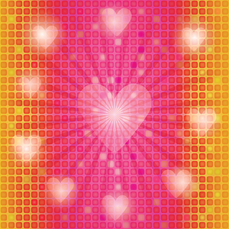 abstract mosaic background with valentines photo
