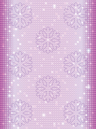 abstract mosaic background with snowflakes Vector