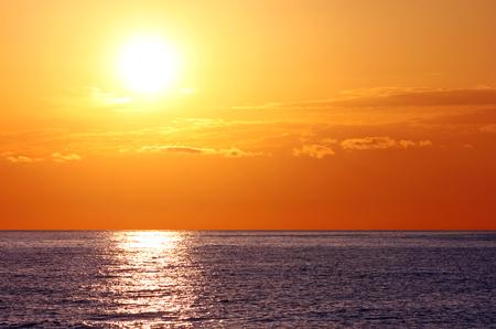 picturesque sunrise in sea
